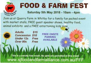 Serpentine Jarrahdale FOOD & FARM FEST 5.5.18